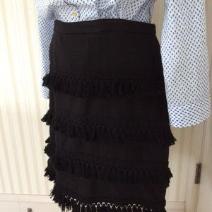 Short Skirt With Tassel Detail Size 12